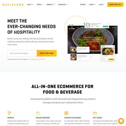Restaurant Websites with Online Ordering
