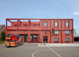 Fire station in Antwerp (designed by Happel Cornelisse Verhoeven, 2020)