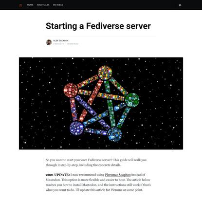 Starting a Fediverse server