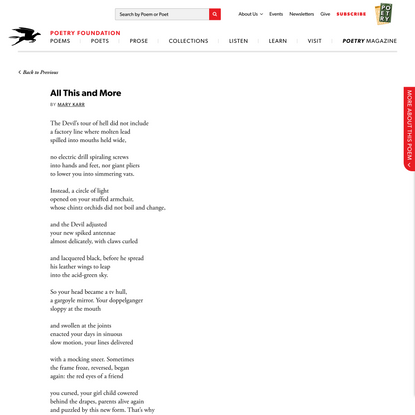 All This and More by Mary Karr | Poetry Foundation