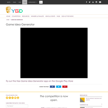 Game Idea Generator   BAFTA YGD