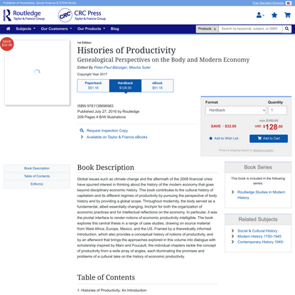 Histories of Productivity: Genealogical Perspectives on the Body and Modern Economy