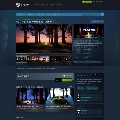PLAYNE : The Meditation Game on Steam