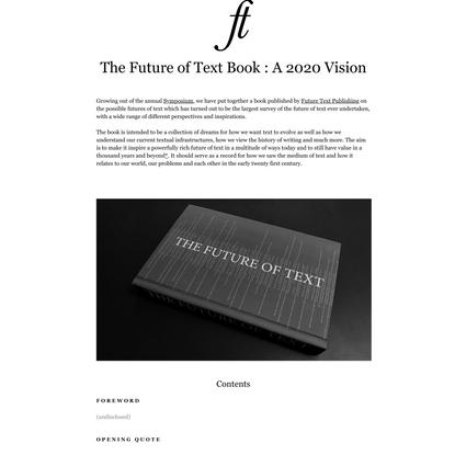 2020 Vision Book