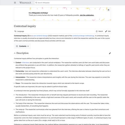 Contextual inquiry - Wikipedia