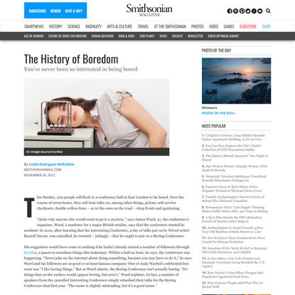 The History of Boredom