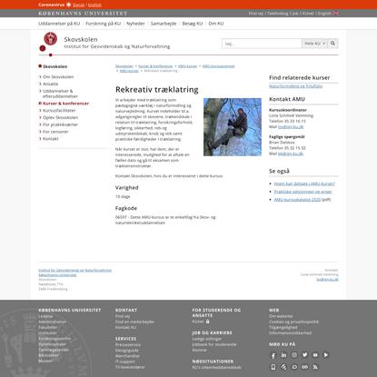 Rekreativ træklatring – Københavns Universitet