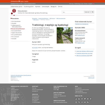 Træbiologi, træpleje og byøkologi – Københavns Universitet