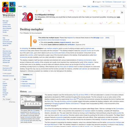 Desktop metaphor - Wikipedia