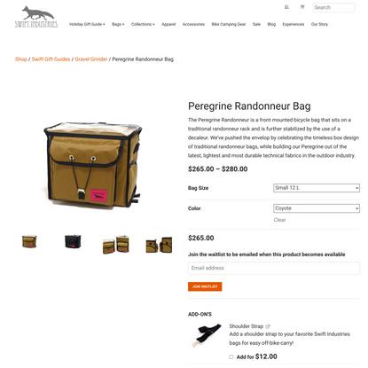 Peregrine Randonneur Bag