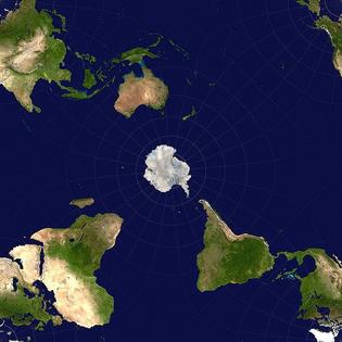 Antarctic-centric world view.