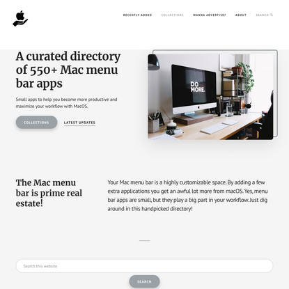MacMenuBar.com   A curated directory of 550+ Mac menu bar apps