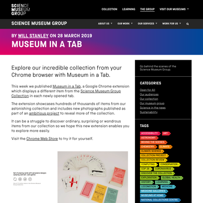 Museum in a Tab - Science Museum Group