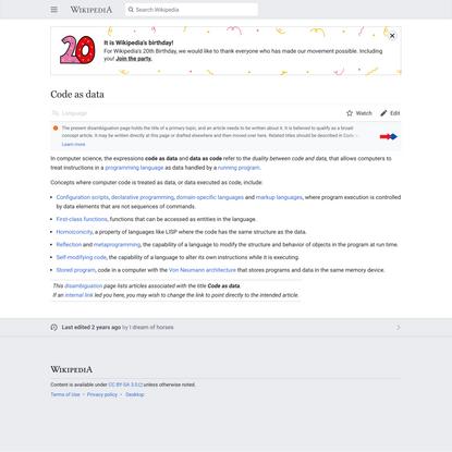 Code as data - Wikipedia