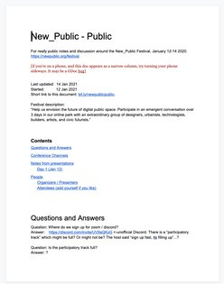 New_Public Festival crowd-sourced notes