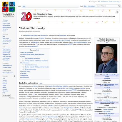 Vladimir Zhirinovsky - Wikipedia
