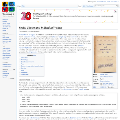 Social Choice and Individual Values - Wikipedia