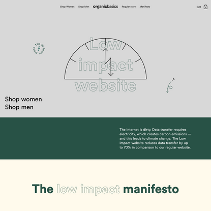 The Low Impact Website | Organic Basics