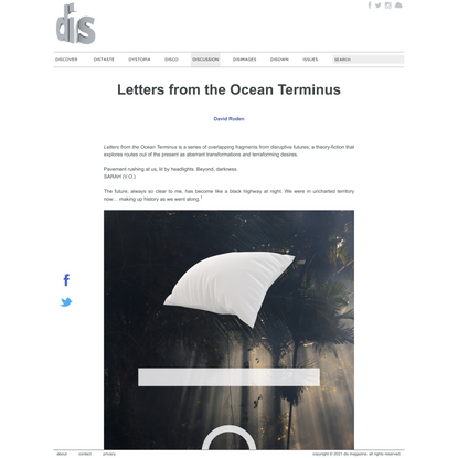 Letters from the Ocean Terminus | David Roden