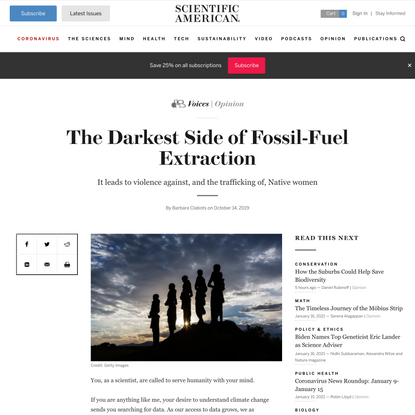 The Darkest Side of Fossil-Fuel Extraction