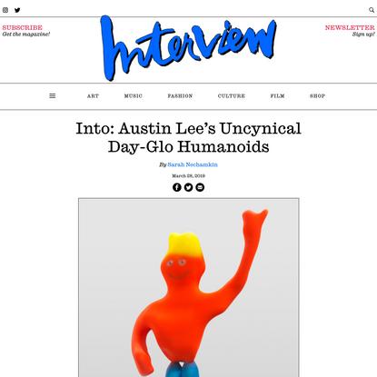 Austin Lee's Uncynical Day-Glo Sculptures at Jeffery Deitch