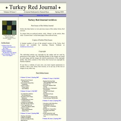 Turkey Red Journal