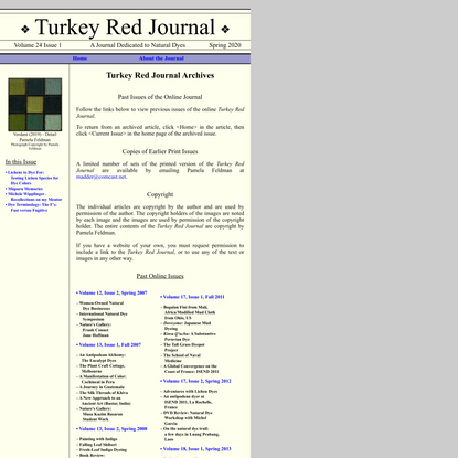 Turkey Red Journal