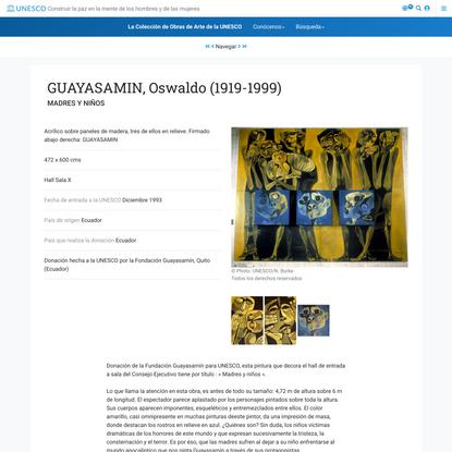GUAYASAMIN, Oswaldo (1919-1999):MADRES Y NIÑOS:La Colección de Obras de Arte de la UNESCO