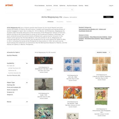 Anita Magsaysay-Ho | artnet
