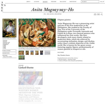 Anita Magsaysay-Ho — AWARE Women artists / Femmes artistes