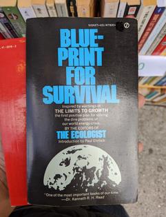 """Blueprint For Survival"", Sleepy Cat Books, Berkeley CA"