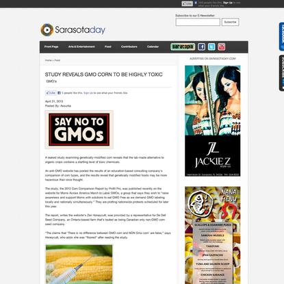STUDY REVEALS GMO CORN TO BE HIGHLY TOXIC - SarasotaDay.com