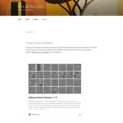 Datasets – Kylberg.org