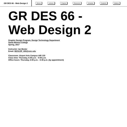 GR DES 66 - Web Design 2