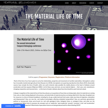 The Material Life of Time