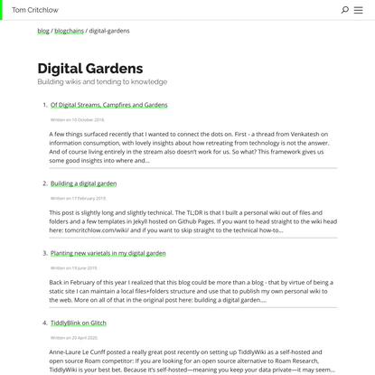 Digital Gardens