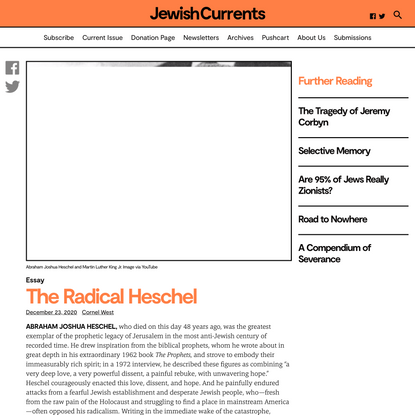 The Radical Heschel