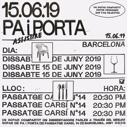 "Carmen Studio on Instagram: ""Identity for Pa i Porta [by @ssoruss and @gravina.eu] Digital poster and personal invitations [..."
