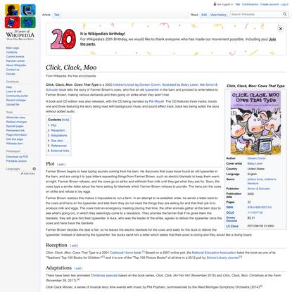 Click, Clack, Moo - Wikipedia