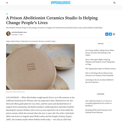 A Prison Abolitionist Ceramics Studio Is Helping Change People's Lives