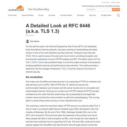 A Detailed Look at RFC 8446 (a.k.a. TLS 1.3)