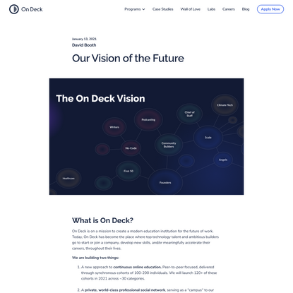 Our Vision of the Future