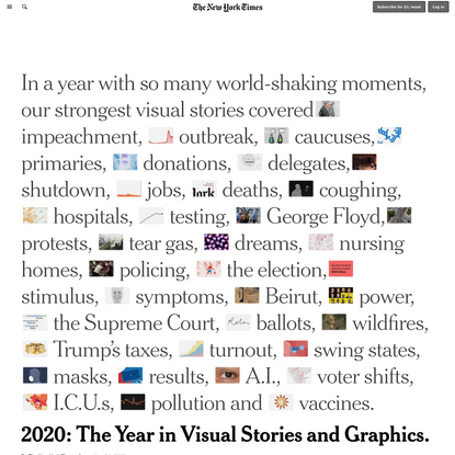 2020: The Year in Visual Stories and Graphics