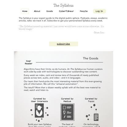 The Syllabus