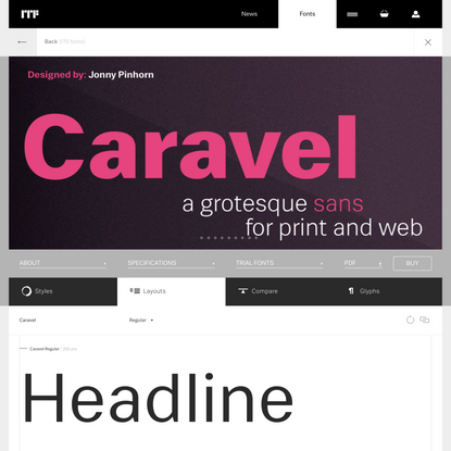 Caravel layouts | Indian Type Foundry