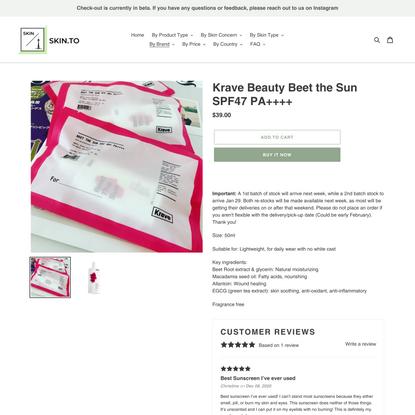 Krave Beauty Beet the Sun SPF47 PA++++