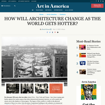 How Climate Change Impacts Architecture and Art – ARTnews.com