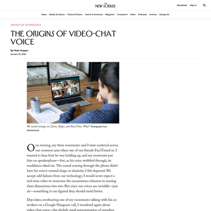 The Origins of Video-Chat Voice
