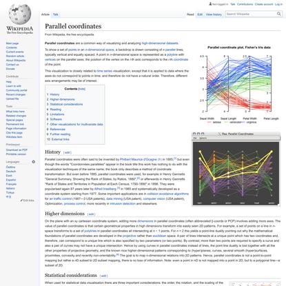 Parallel coordinates - Wikipedia
