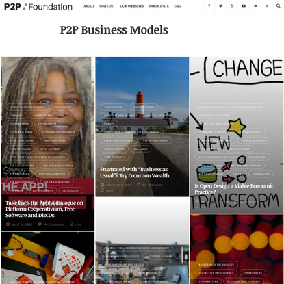 P2P Business Models Archives | P2P Foundation